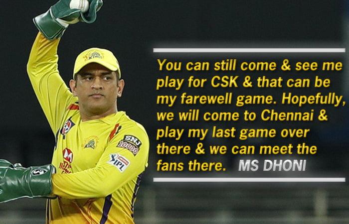 Dhoni hints at playing IPL 2022