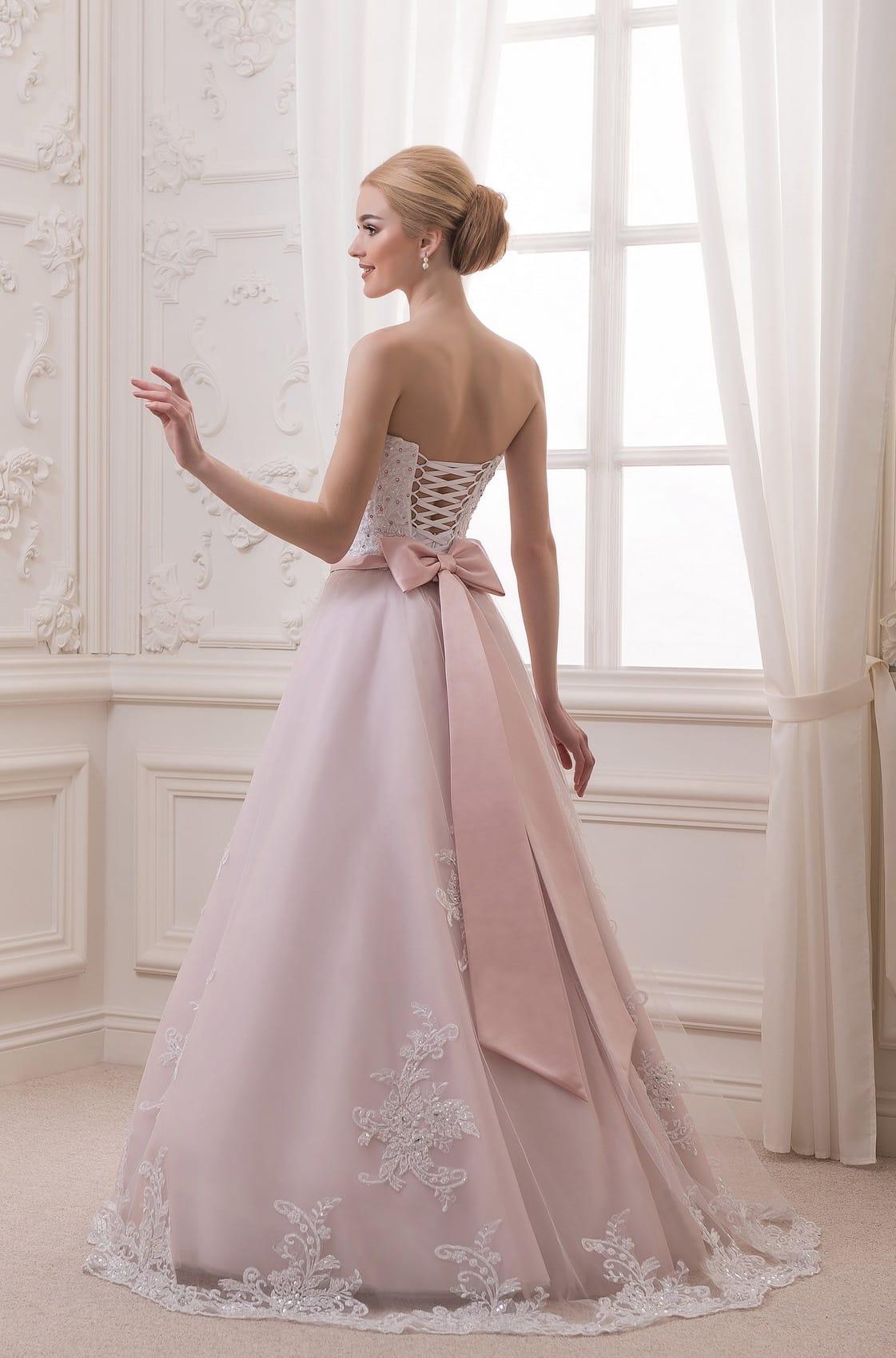 Angela abito da sposa colore rosa  SposatelierSposatelier