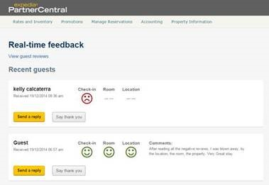 Expedia - Real Time Feedback