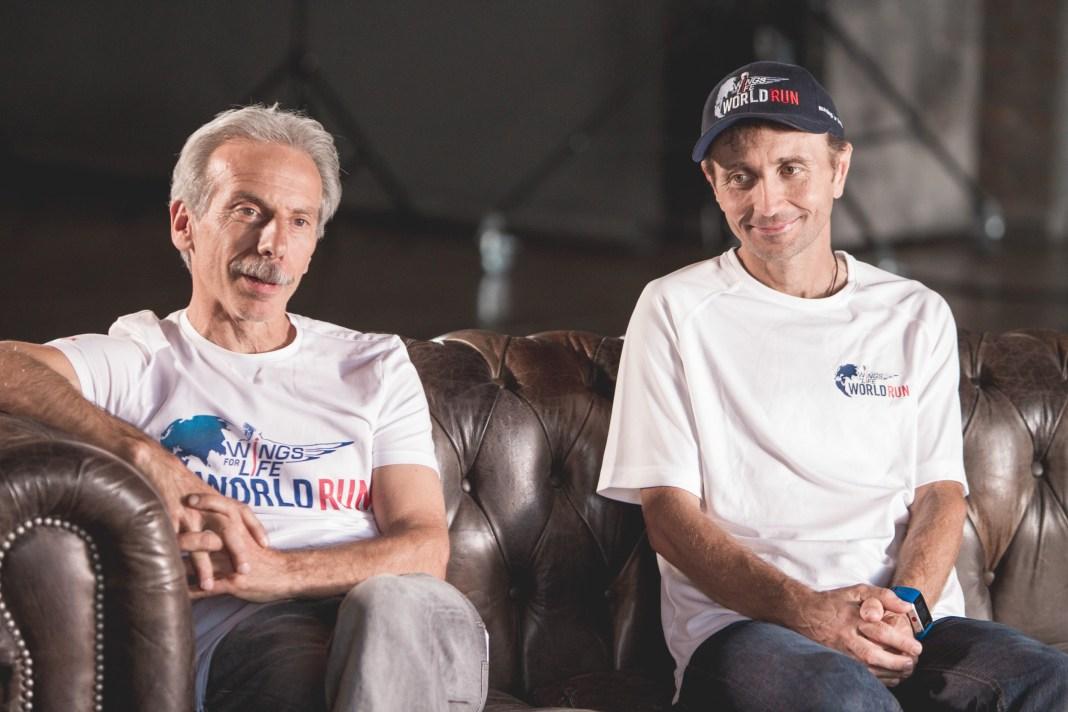 Giovanni Storti e Giorgio Calcaterra_WINGS FOR LIFE WORLD RUN backstage_ph Simone Colombo
