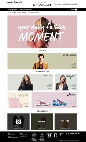 Privalia Homepage