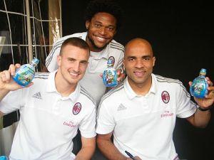 Levissima_Luiz Adriano, Alex e Rodrigo Ely con Issima