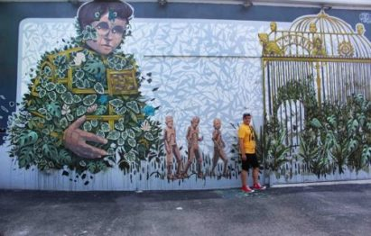 Igor Righetti al Wynwood art district, vera e propria guida illustrata sulla street art.Foto Grigore Scutari
