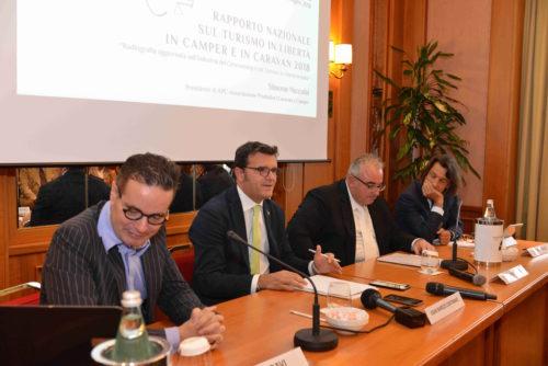 da sx Klaus Davi, Gian Marco Centinaio, Simone Niccolai, Antonio Cellie