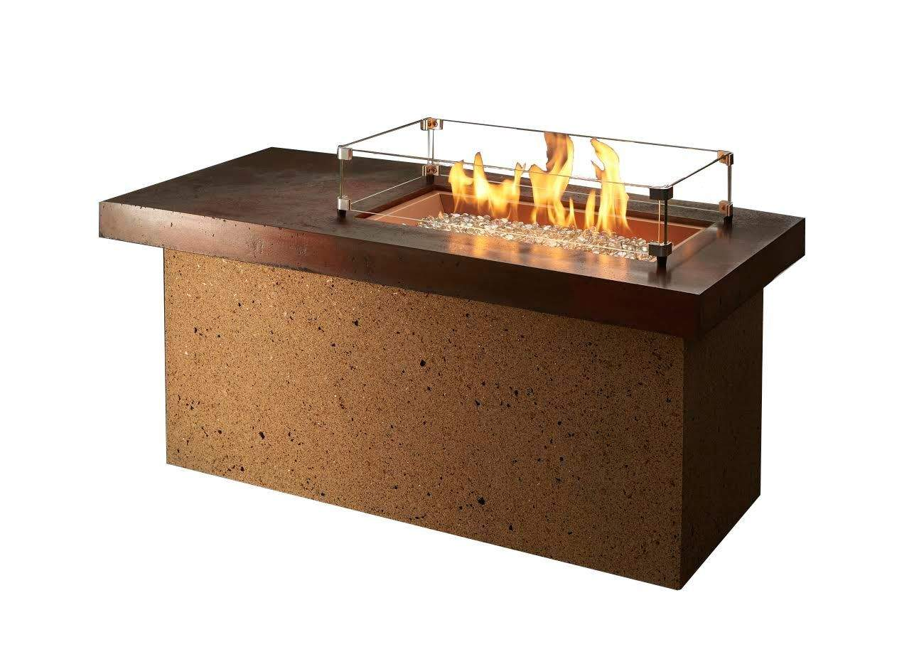 Outdoor Greatroom Artisan Gas Fire Pit Table with Copper