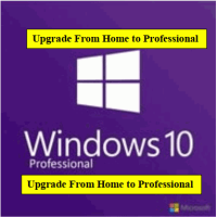 Microsoft Windows 10 Professional Upgrade From Home to Professional