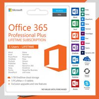 MS OFFICE 365 5 DEVICES 5TB LIFETIME License Account PC/MAC. 365 pro plus