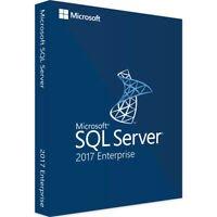 Microsoft SQL Server 2017 Enterprise Activation Key Unlimited Cores