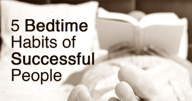 5 bedtime habits of successful people