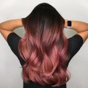 stunning rose gold hair color