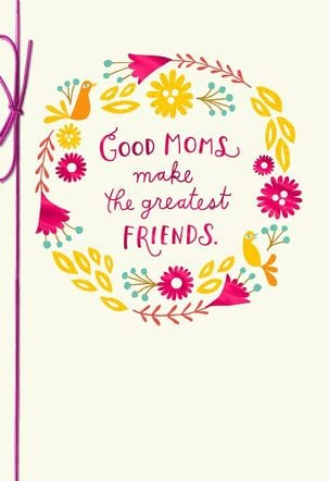 We repeat: Buy her a card. This is your one time of year to let the woman who gave birth to you (!!) know how much you appreciate her, so don't cheap out and forget the card. - Tricia Cremo (image, hallmark.com)