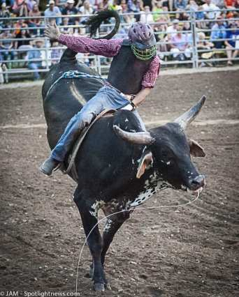 Spotted: Double M Professional Rodeo July 29 in Ballston Spa, NY.