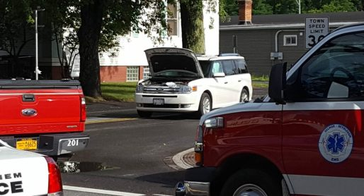 Emergency crews responded to a two-car accident at the intersection of Kenwood Avenue and Adams Street Tuesday, Aug. 2. Rob Jonas/Spotlight