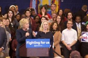 Hillary at Cohoes High School (photo by Jim Franco/SpotlightNews.com)