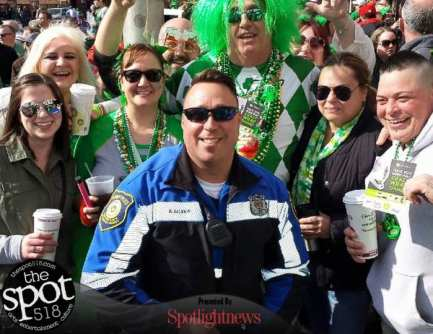 Party with the boys in blue on St. Patricks Day. Photo by Bill Decker