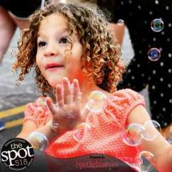 Bubbles are fun at Art on Lark. Photo by Michael Hallisey