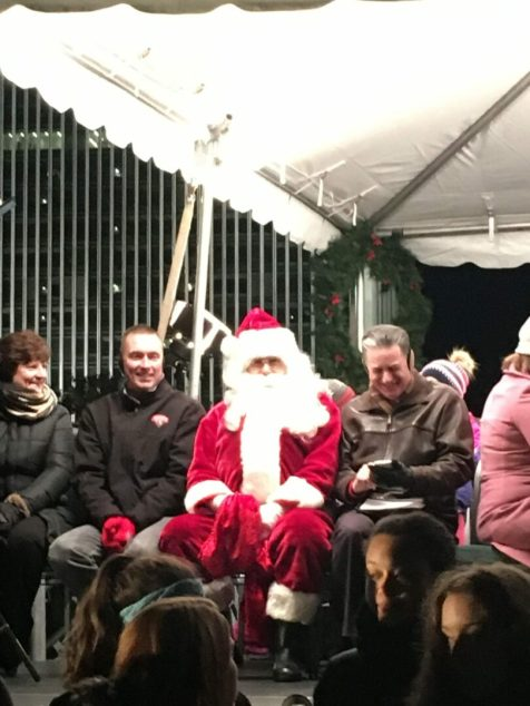 Santa also made an appearance at the tree lighting ceremony. Kassie Parisi/Spotlight News