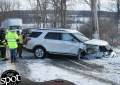 Snow drift causes accident on Route 32 in New Scotland
