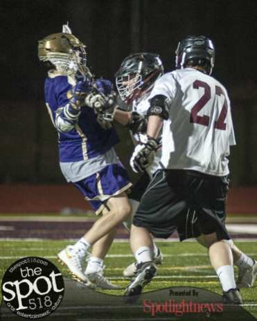 CBA at Burnt Hills Ballston Lake boys lacrosse on April 11.