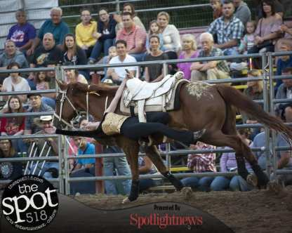Spotted: Double M Professional Rodeo July 15 in Ballston Spa, NY.