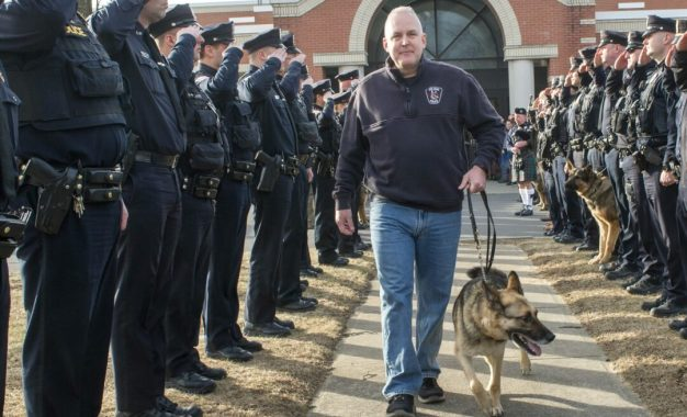 Walk out ceremony for Colonie cop and his K9 (w/photo gallery)