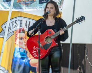 Madison VanDenburg performs at the West Albany Pocket Park (Jm Franco/Spotlight News)