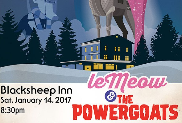 LeMeow and The Powergoats set for January 14 show at The Black Sheep Inn