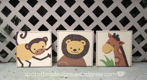 Animal canvas art for a baby nursery | spotofteadesigns.com
