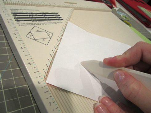 martha stewart crafts scoring board mini envelope