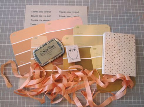 Thank you tags paint chip crafts materials