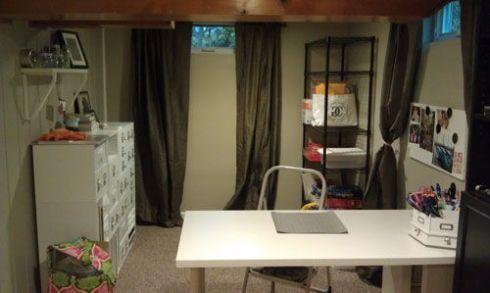 Basement Craft Room After