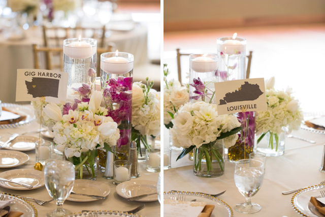 Destination Table Numbers created for your big day. Email me for a quote! Photo Credit of this example shot by Belinda Grant Photography. | spotofteadesigns.com