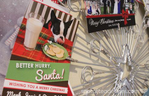 Christmas Wreath finished - close up