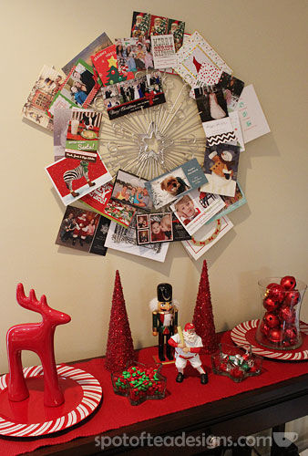 Christmas Card Wreath complete