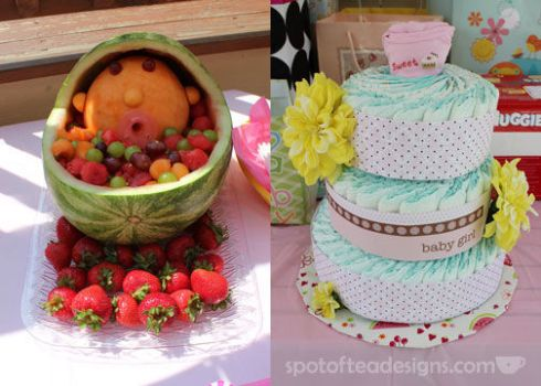 Baby Shower Watermelon Fruit Bowl | spotofteadesigns.com