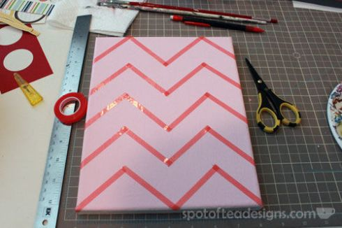 Nursery Canvas Art Chevron Tape - spotofteadesigns.com