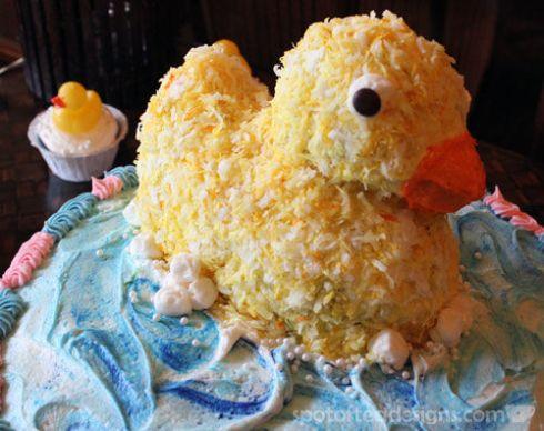 Rubber Duck Baby Shower Cake | Spotofteadesigns.com