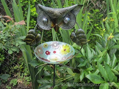 Owl Garden Stake | spotofteadesigns.com