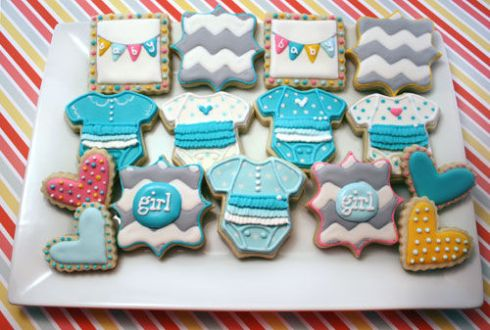Royal Icing Baby Shower Cookie Collection | spotofteadesigns.com