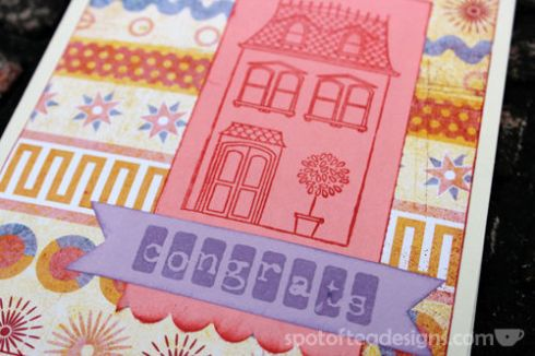 New Home Congrats Handmade Card | spotofteadesigns.com