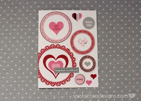 Handmade First Anniversary Card using Die Cuts| spotofteadesigns.com