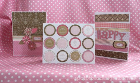 All that glitters is gold challenge: 3 Handmade cards | spotofteadesigns.com