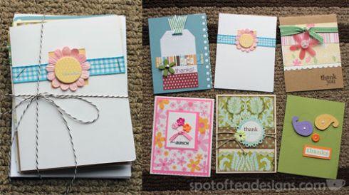 Handmade Thank You Cards | spotofteadesigns.com