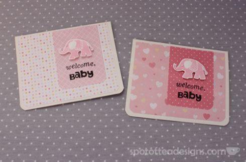 Welcome Baby Handmade Card Elphant Themed | spotofteadesigns.com