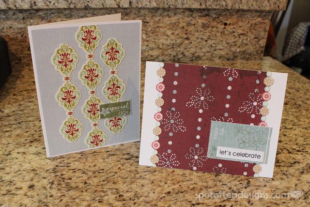 handmade birthday cards using christmas adhesive border stickers   spotofteadesigns.com