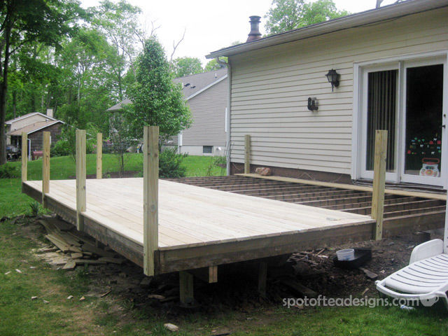 Deck Makeover in progress | spotofteadesigns.com