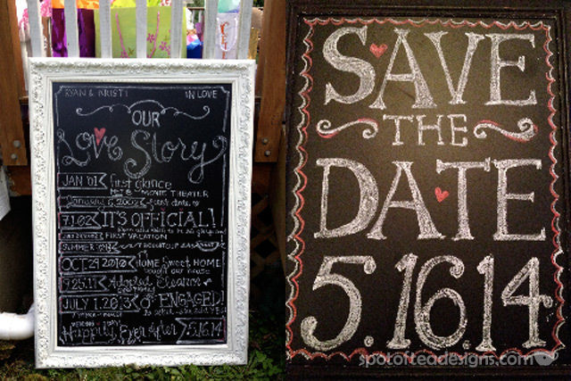 Movie Night Engagement Party Chalkboard Decorations | spotofteadesigns.com