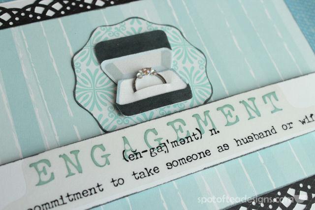 Handmade Card for Wedding Engagement | spotofteadesigns.com