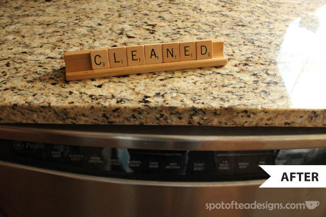 DIY Dishwasher Indicator | spotofteadesigns.com