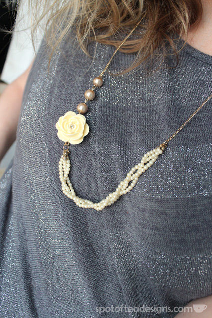 Gold and Pearl accessories necklace | spotofteadesigns.com